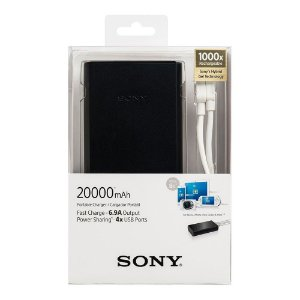 Carregador Portátil Power Bank Sony 20.000 mAh - Modelo CP-S20/B - Sony
