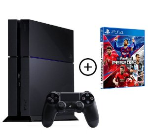 Console Playstation 4 500 Gb Seminovo + PES 20 Efootball (Mídia Física) Combo PES 20 - Sony