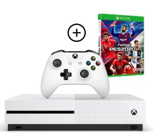 Console Xbox One S 1 Tera 4k + PES 20 Efootball (Mídia Física) Combo PES 20 - Microsoft