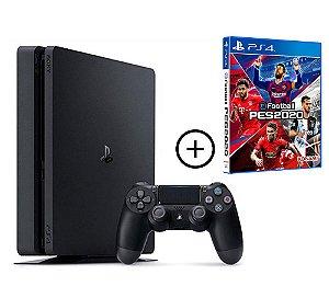 Console Playstation 4 Slim 500 Gb + PES 20 Efootball (Mídia Física) Combo PES 20 - Sony