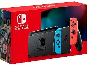 Console Nintendo Switch MODELO NOVO - Neon Red/Blue - Switch