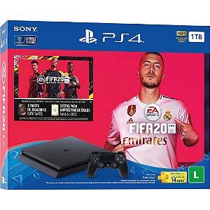 Console Playstation 4 Slim 1TB 1 TERA + Jogo FIFA 20 (Mídia Física) - Sony