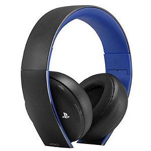 Headset Sony Gold Stereo Sem Fio - SEMINOVO - PS3, PS4, PS Vita, PS Vr - Sony
