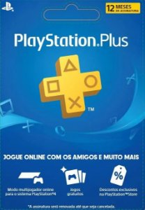 Cartão Playstation PSN Plus 12 Meses