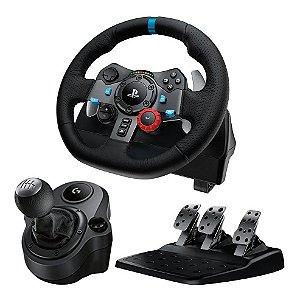 Volante Logitech G29 + Pedal + Câmbio Manopla (Seminovo) - PS3 - PS4