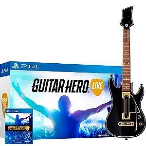 Guitar Hero Bundle Live Guitarra + Jogo + Adaptador (Seminovo) - PS4