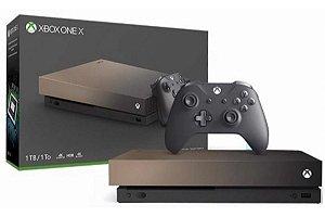 Console Xbox One X Gold Rush Edição Especial - Gold 1 Tb - (Seminovo) - Microsoft