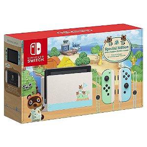 Console Nintendo Switch Animal Crossing Edição Limitada - Switch