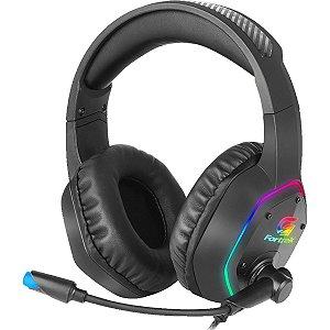 Headset Gamer Fortrek Blackfire RGB, USB P2 P3 Preto