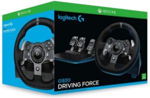 Volante Logitech G920 (Seminovo) - Xbox One e PC