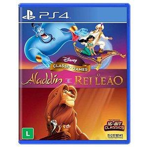 Disney Classic Games: Aladdin + O Rei Leão (Seminovo) - PS4