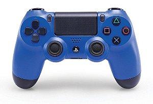 Controle Dualshock azul - PS4