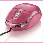 Mouse Com Fio Multilaser Mo002 Classic rosa