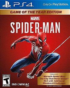 Spider man edição jogo do ano ps4
