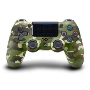 Controle ps4 slim camuflado verde ( dualshock 4 slim )
