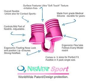 Dilatador Nasal Nasivent® Sport (pink) - Mais Energia