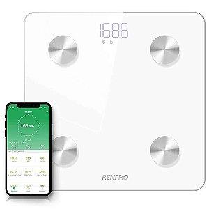 Balança Inteligente Bioimpedância Bluetooth Branca RENPHO TOPSELLER