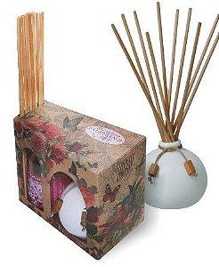 Kit Aroma Exuberance: Refil de Extrato 315ml + Frasco de Cerâmica 250ml + Varetas. Diversas Fragrâncias.