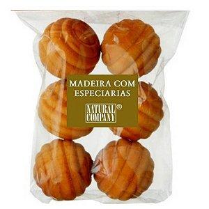 Sachê Perfumado Bolinha de Madeira Mad. Especiarias-6 unid.