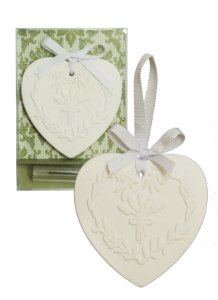 Sachê Perfumado Gesso Coração Flor de Cerejeira
