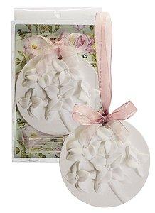Sachê Perfumado Gesso Bolacha Floral - Flor de Cerejeira