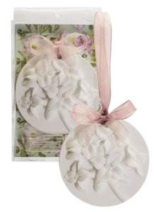 Sachê Perfumado Gesso Bolacha Floral Lavanda Francesa