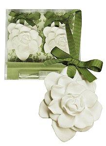 Sachê Perfumado Gesso  Par de Flores Alecrim do Campo