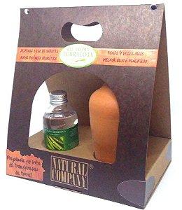 Difusor de Aromas Terracota Capim Limão 120 ml - Kit Presente