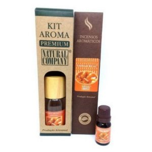 Kit Aroma Premium Âmbar Real-Nota Outono/Inverno-4 Produtos