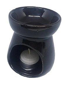 Aromatizador Réchaud Clássico Preto - Cerâmica