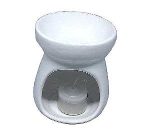 Aromatizador Réchaud Clássico Branco - Cerâmica