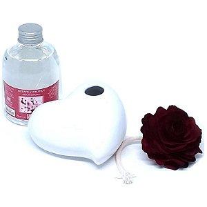 Aromatizador Difusor All Love - Cerâmica Branca + Extrato 315 ml.