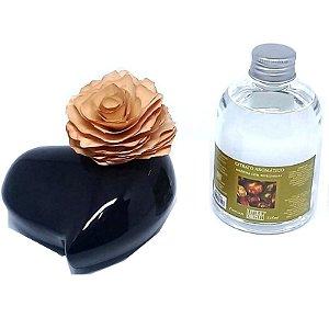 Aromatizador Difusor All Love - Cerâmica Preta + Extrato 315 ml.
