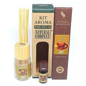Kit Aroma Premium Madeira Especiarias-Nota Verão-4 Produtos