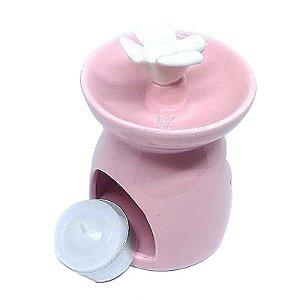 Aromatizador Para Ambiente Réchaud Rosa com Pássaro - Cerâmica