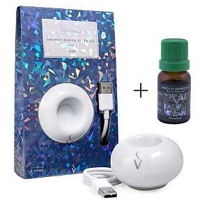 Aromatizador USB+Essência Alecrim do Campo/Energia e Saúde