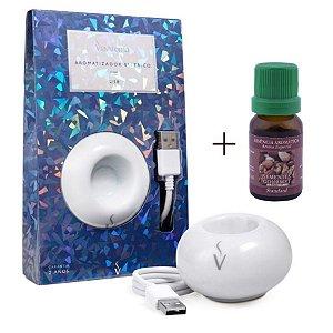 Aromatizador USB+Ess. Sementes Gourmet/Conforto e Aconchego