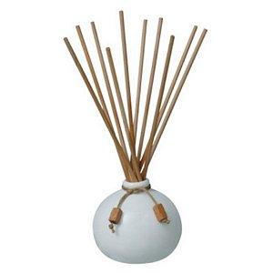 Aromatizador Exuberance-Cerâmica Branca 250ml+Var. Madeira