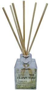 Aromatizador Difusor Le Cube Paixão - Vidro 100 ml + Varetas de Madeira