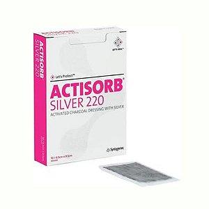 ACTISORB Silver 220 - Curativo de carvão ativado com prata