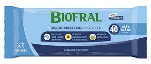 TOALHAS UMEDECIDAS BIOFRAL CONFORT 01 EMBALAGEM