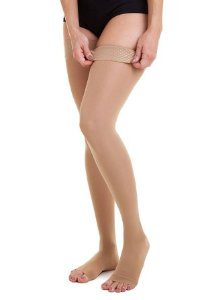 Meia Jobst Ultra Sheer, 15-20 mmHg Meia Coxa 7/8, cor: Natural