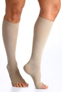 Meia Sigvaris Select Comfort, 30-40 mmHg, 3/4 Panturrilha Cor: Bege