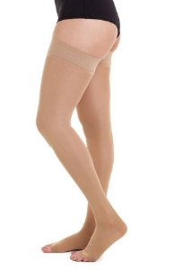 Meia Jobst Ultra Sheer, 20-30 mmHg Meia Coxa 7/8, cor: Natural