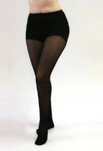 Meia Calça Medi 20-30 mmHg Sheer Soft, cor: Preto