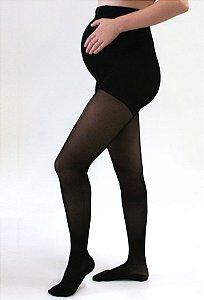 Meia Calça Gestante Medi 20-30 mmHg Sheer Soft, cor: Preto