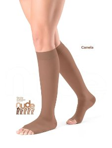 Meia Sigvaris Ever Sheer Nude, 20-30 mmHg, 3/4 Cor: Canela