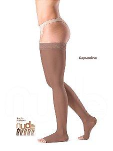 Meia Sigvaris Ever Sheer Nude, 20-30 mmHg, 7/8 Cor: Capuccino