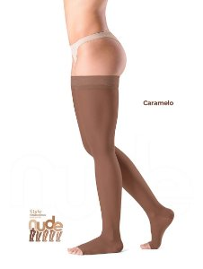 Meia Sigvaris Ever Sheer Nude, 20-30 mmHg, 7/8 Cor: Caramelo