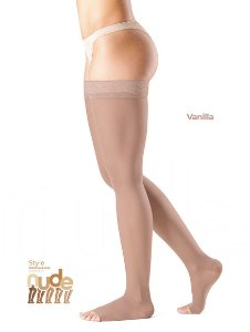 Meia Sigvaris Ever Sheer Nude, 20-30 mmHg, 7/8 Cor: Vanila